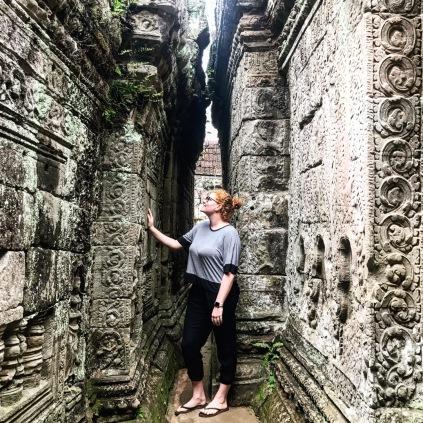 I'm admiring the carvings at Preah Khan